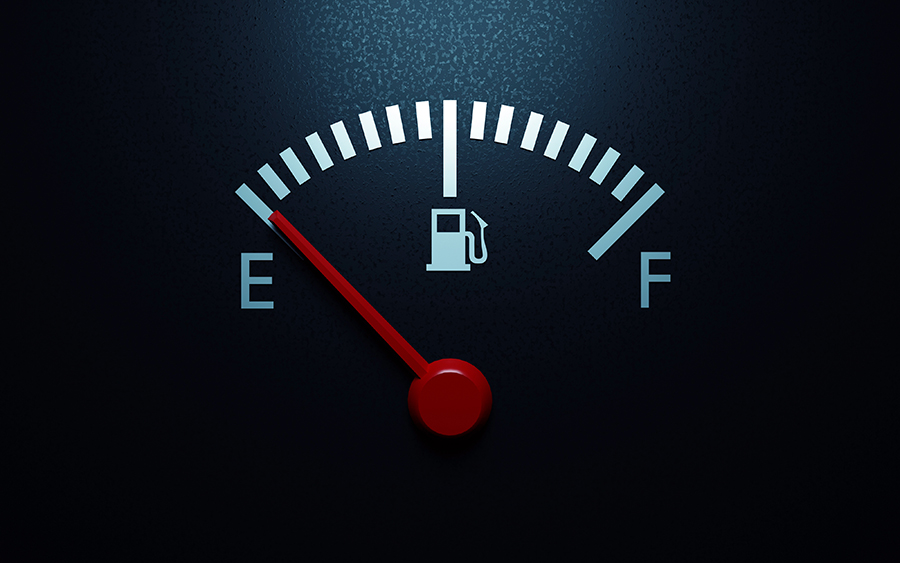 never drive on an empty fuel tank